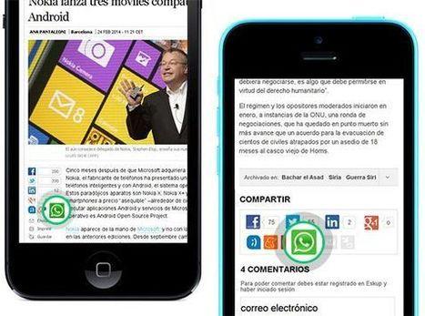 EL PAÍS incorpora la opción de compartir sus noticias por WhatsApp | Criterios de innovación tecnológica y periodística en la Red | Scoop.it