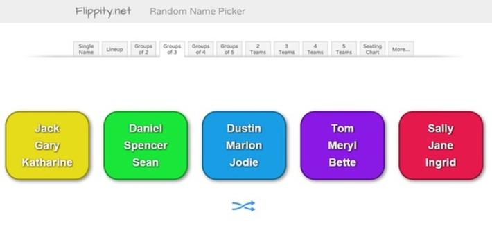 Edu-Curator: Maak allerlei groepjes in jouw klas met de random name picker van flippity.net | Educatief Internet - Gespot op 't Web | Scoop.it