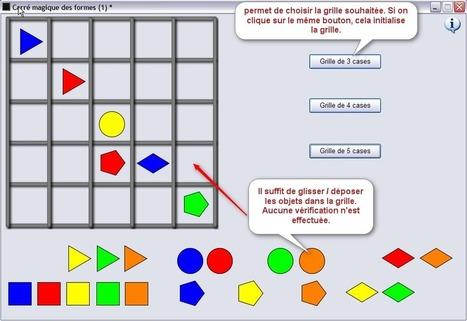 Carré magique des formes | Jeux numériques pour l'école | Scoop.it