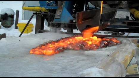 What lava looks like when poured over ice | Strange days indeed... | Scoop.it