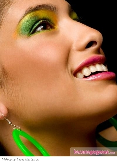 Exotic Green and Yellow Eye Makeup - Party Makeup Ideas Pictures   Eye on Green Magazine   Scoop.it