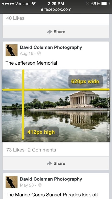 Facebook Photos Size Guide / 2014 - Updated for New Layout | Les techniques du e-marketeur | Scoop.it