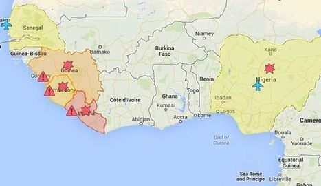 CARTE. La propagation d'Ebola en Afrique de l'ouest - L'Express | le web 2.0 | Scoop.it