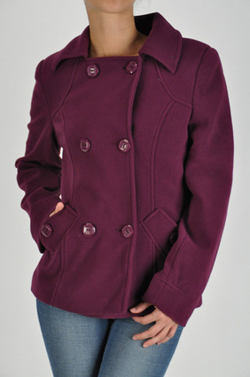 CLASSIC DOUBLE-BREASTED POLA FLEECE COAT (S:M:L:XL).Double-breasted button front with top quality fleece & workmanship. It features detailed side pockets, detailed tab on back, and silky lining. | JUNIOR FULLY LINED BLAZER WITH FRONT POCKETS at Bvira.com | Scoop.it