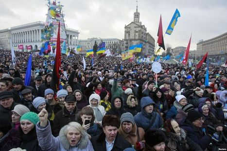 Thousands Protest in Ukraine's Capital - Voice of America   Activism, Protest, Citizen Movements, Social Justice   Scoop.it