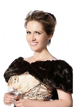 Black faux mink fur women short shawl | Comfortable faux fur coat fashion | Scoop.it