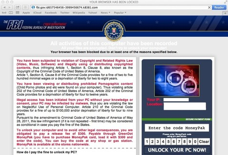 FBI Ransomware Now Targeting Apple's Mac OS X Users | Apple, Mac, MacOS, iOS4, iPad, iPhone and (in)security... | Scoop.it