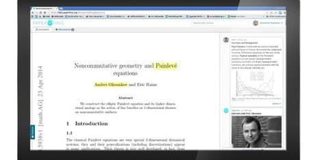 PaperHive – a coworking hub for researchers that aims to make reading more collaborative.   Scholarly Communication   Scoop.it