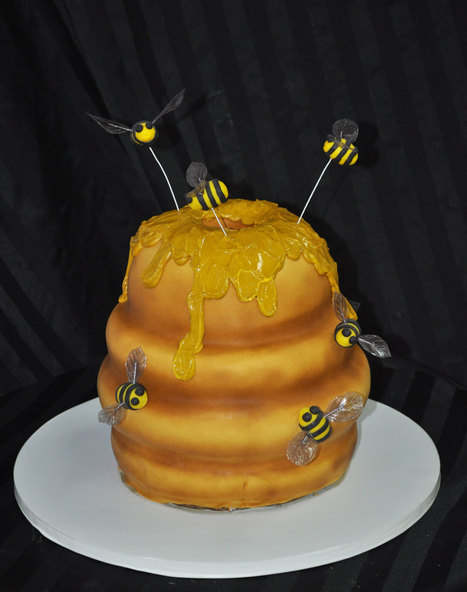 Bee Hive Sculpted Cake | Custom Cakes for You | Scoop.it