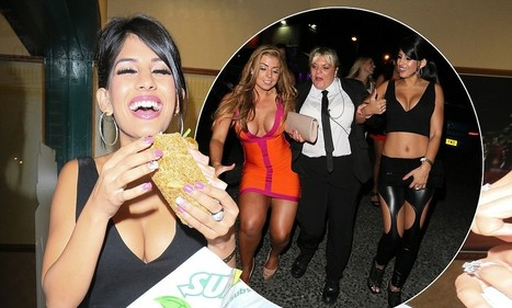 She's not cut out for this! A scantily-clad Jasmin Walia tucks into a sandwich after night out with an unsteady Abi Clarke | Everything Under the Sun | Scoop.it