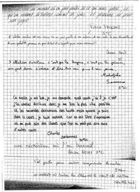 Evelyne Plantier - Atelier d'Ecriture Partagé - ARPAEP - Témoignages élèves | atelier d'écriture | Scoop.it