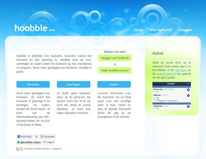 Hoobble: Nooit meer gesteggel over huiswerk! | Educatief Internet - Gespot op 't Web | Scoop.it