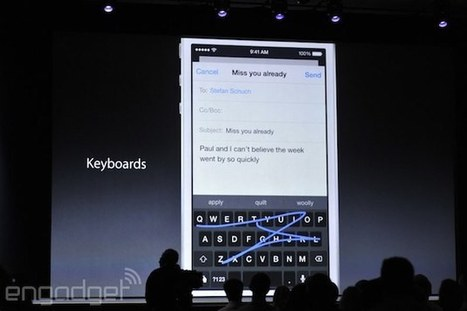 Apple will finally support third-party keyboards in iOS 8 - Engadget | IT Services | Scoop.it