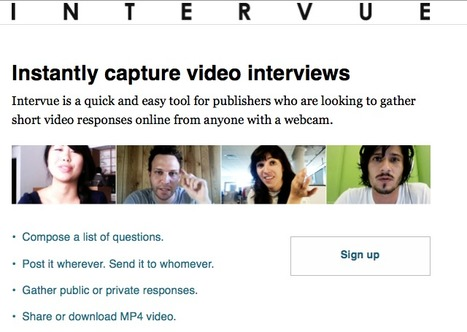 Intervue: instantly capture video interviews | Create, Innovate & Evaluate in Higher Education | Scoop.it