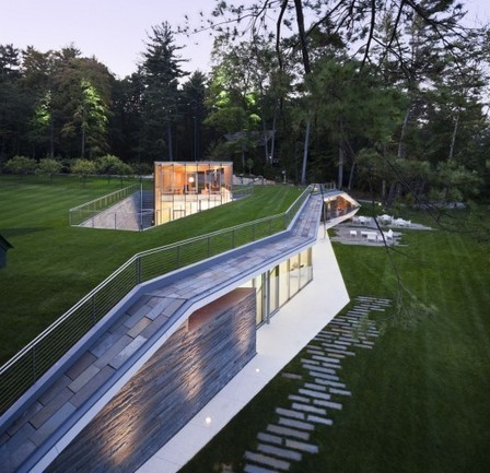 [ Lake George, New York, USA] Pool Pavilion / GLUCK+ | The Architecture of the City | Scoop.it