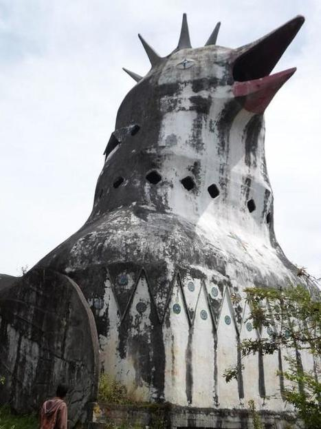 "Eccentric Man Builds Giant ""Chicken Church"" in the Middle of Indonesian Jungle 