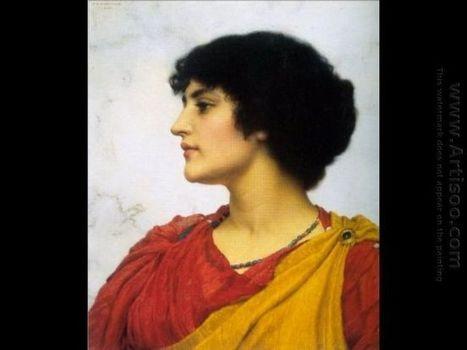 Oil painting reproduction: John William Godward An Italian Girls' Head - Artisoo.com | arts&oil | Scoop.it