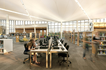 Library design. 10 Steps to a Better Library Interior | School library design, teaching and learning areas, shelving | Scoop.it