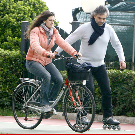 Andrea Bocelli Rollerblades ... with Seeing-Eye Bicyclist | READ WHAT I READ | Scoop.it