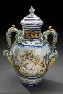 Pharmacy storage jar for Blessed Thistle Water, Italy, 1702 | bain de Marie: Women and the roots of botanical chemistry | Scoop.it