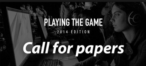 Call for papers Playing The Game 2014 - convergence among video games, arts & cultures | Digital #MediaArt(s) Numérique(s) | Scoop.it