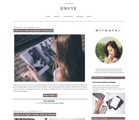 Free Envye Theme - Envye | Blogger themes | Scoop.it