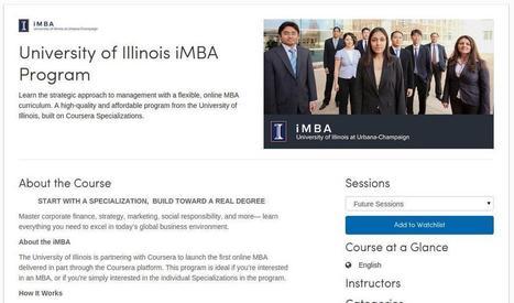 Coursera Partners with University of Illinois to Launch iMBA - MOOC Report | Mooc's METID | Scoop.it
