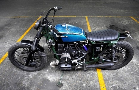 "BMW R100 /7 ""GREEN HORNET"" by BLITZ MOTORCYCLES 