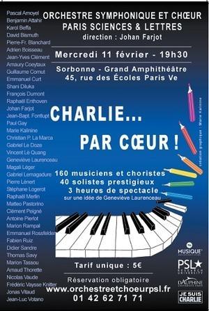 Charlie ... par cœur (Concert exceptionnel de l'OSC-PSL, 11 février) - actualités - Paris Sciences et Lettres - PSL - Research University | Université Paris-Dauphine | Scoop.it