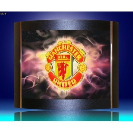 Wall lamps, sconces Manchester United logo as lamp shades. | Lighting bargains | Scoop.it