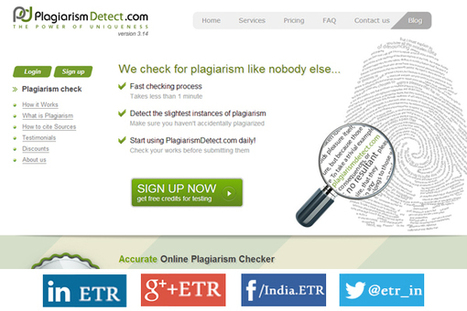 Online Plagiarism Checker by PlagiarismDetect - EdTechReview™ (ETR) | All Things Writing | Scoop.it