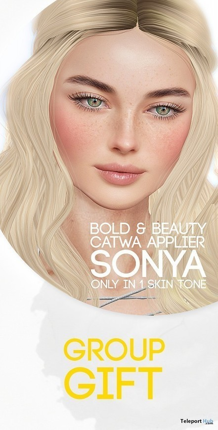 Sonya Fair Skin Tone Catwa Applier Group Gift by Bold & Beauty | Teleport Hub - Second Life Freebies | Second Life Freebies | Scoop.it