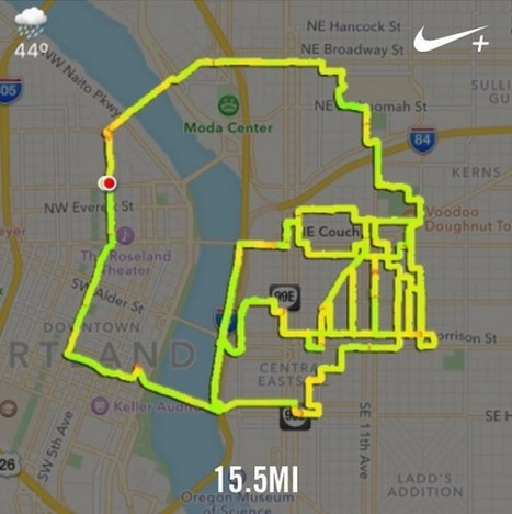Runner maps Star Wars characters using his GPS jogging tracks - Geoawesomeness | Geography - Teaching | Scoop.it