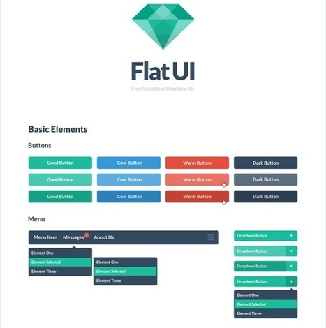 Flat UI PSD and HTML Bootstrap Design Framework | Flat-design | Scoop.it