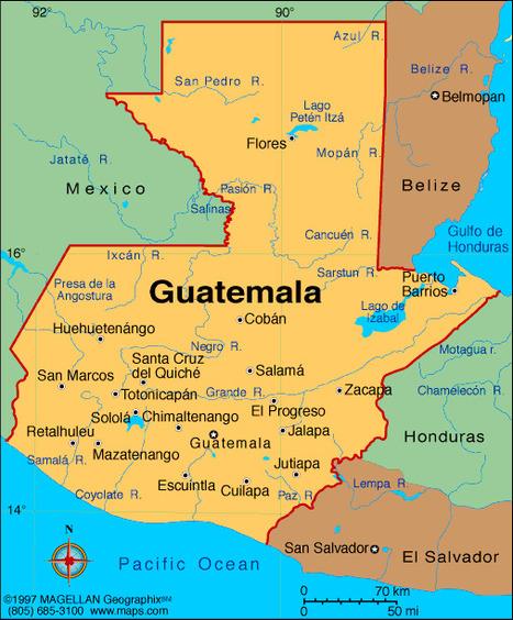 Map Of Guatemala | Guatemala Miranda Hertzler | Scoop.it