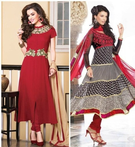 Sparkly Looking Anarkali Dresses for Women | Top Teen Style | stylish lawn dresses | Scoop.it