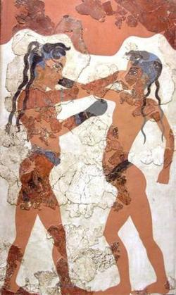 Visual image: boxing boys fresco from Ancient Greece - The Historical Association | Digital History Resources | Scoop.it