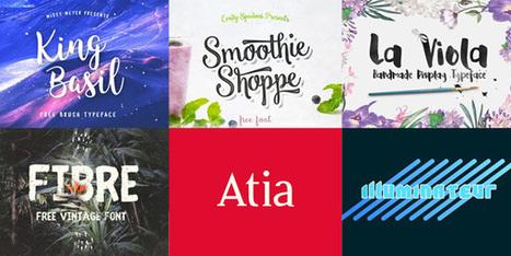 20 nouvelles typographies gratuites publiées en juin 2016 | Geeks | Scoop.it
