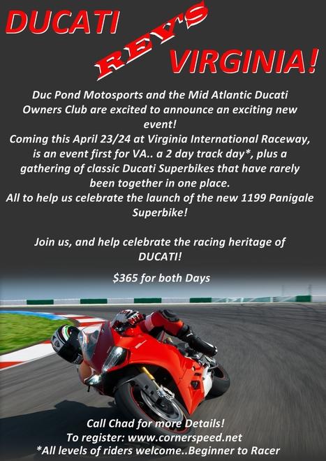 Ducati Event   Ducati Revs Virginia   VIR   April 23/24   Ductalk Ducati News   Scoop.it