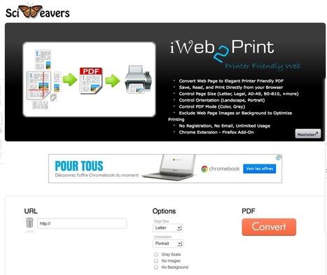 Le blog de Recherche-eveillee.com: Deux outils performants pour convertir des pages web au format PDF | François MAGNAN  Formateur Consultant | Scoop.it