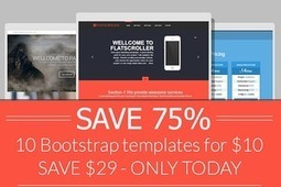 Website Templates ~ SAVE 75% Bootstrap 10 templates | Bootstraptor FREE KIT update | Scoop.it