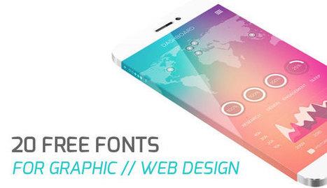 20 Free Fonts for Professional Web Design | Web Design | Scoop.it