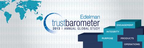 2013 Edelman Trust Barometer | Thrive on Risk | Scoop.it