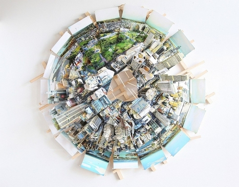If The Planet Really Did Revolve Around Your City: Isidro Blasco's 3D Urban Panoramas | visual data | Scoop.it