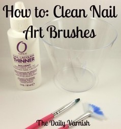How to: Clean Nail Art Brushes - The Daily Varnish | The Nail Zone | Scoop.it