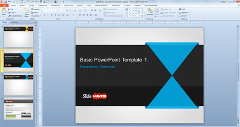 Free Basic PowerPoint Template | Natural Resources and environmental Sustainability  Political and Trade Forces | Scoop.it
