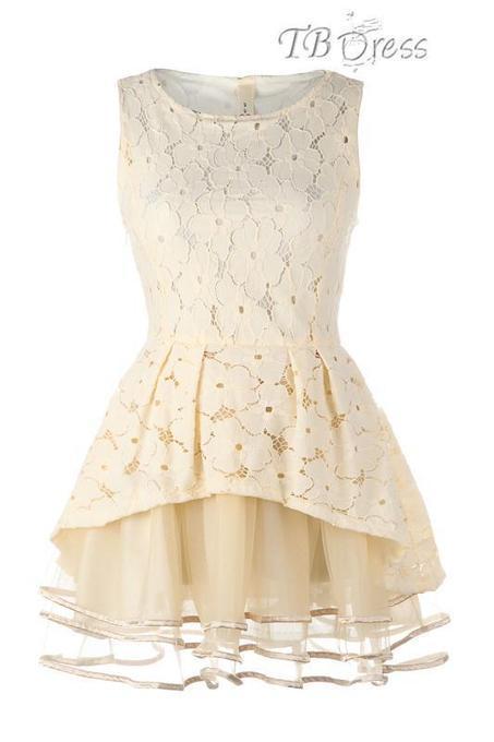 TBdress Design Wonderful Elegant Beige Big Hem Lace Dress | beauty girl | Scoop.it