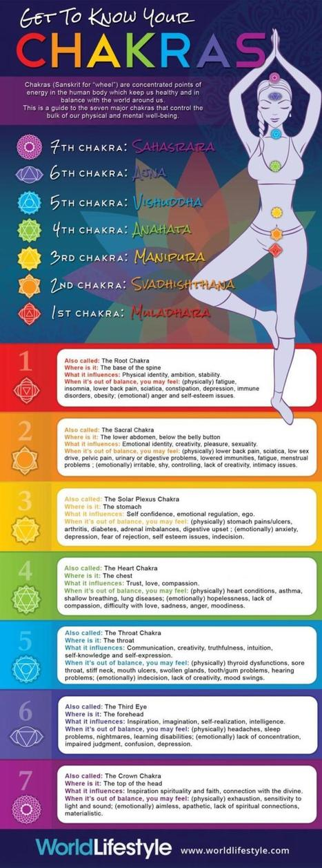 Infographic: Get to Know Your Chakras | Yogic way of life | Scoop.it