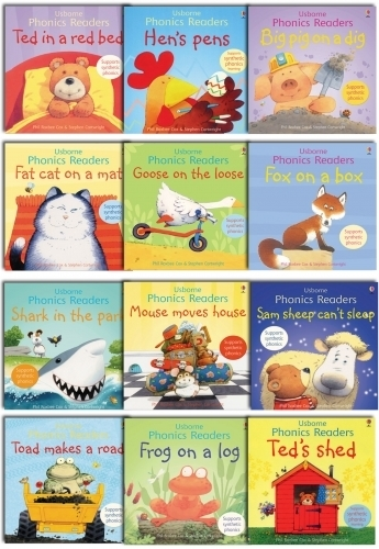 Usborne Phonics Young Readers 12 Picture Books Collection Gift Set | Snazal Books, Leicester | Scoop.it