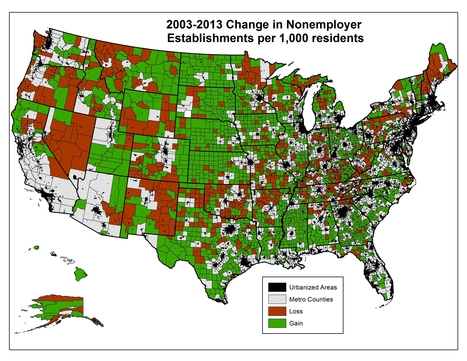 'Gig Economy': While U.S. Gains, Rural Shows Net Loss – Daily Yonder | BroadbandPolicy | Scoop.it